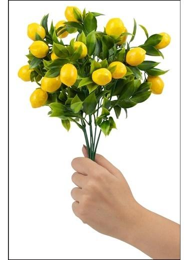 Kitchen Love 35Cm-8 Dallı Yapay Limon Demeti-35Cm Sarı
